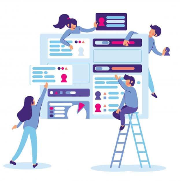 team building website ui illustration 107355 9